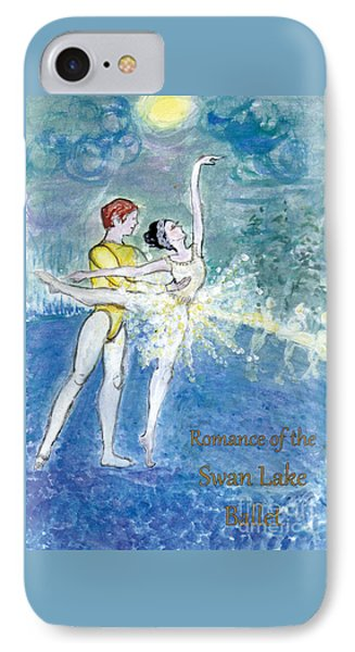 Swan Lake Ballet Poster Phone Case by Marie Loh
