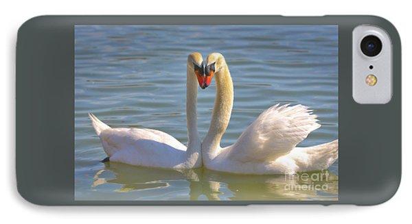 Swan Love IPhone Case by Carol Groenen