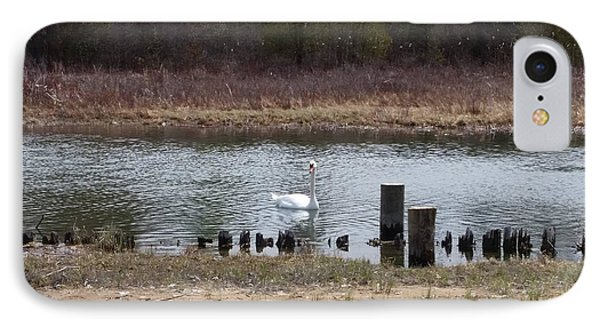 Swan Of Crooked River IPhone Case by Wendy Shoults