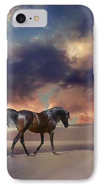 IPhone Case featuring the digital art Swan Of Desert by Dorota Kudyba