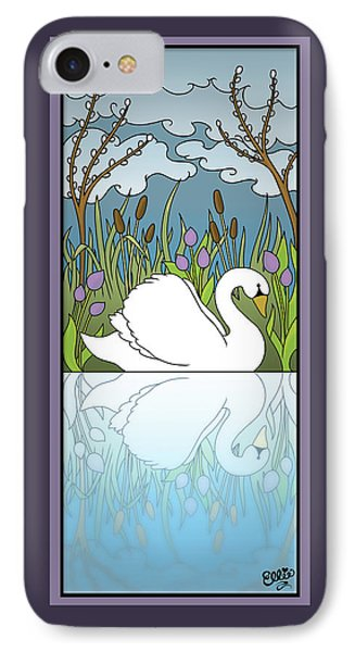 Swan On The River Phone Case by Eleanor Hofer