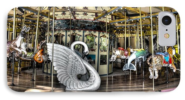 Swan Seat At The Carousel  Phone Case by Michael Garyet