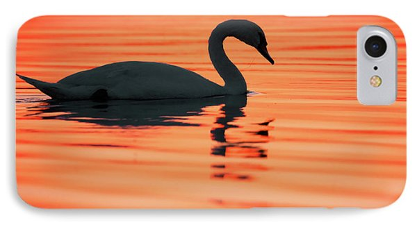 Swan Silhouette IPhone Case