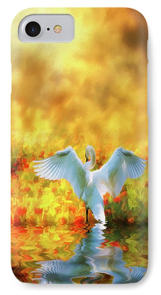 Swan Song At Sunset Thanks For The Good Day Lord IPhone Case by Diane Schuster