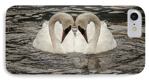 IPhone Case featuring the photograph Swan Times Two by Mary Hone