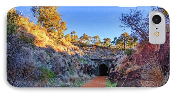 Swan View Railway Tunnel IPhone Case by Dave Catley