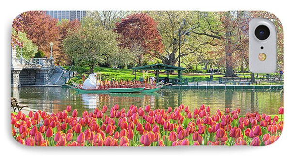 Swans And Tulips 2 IPhone Case by Susan Cole Kelly