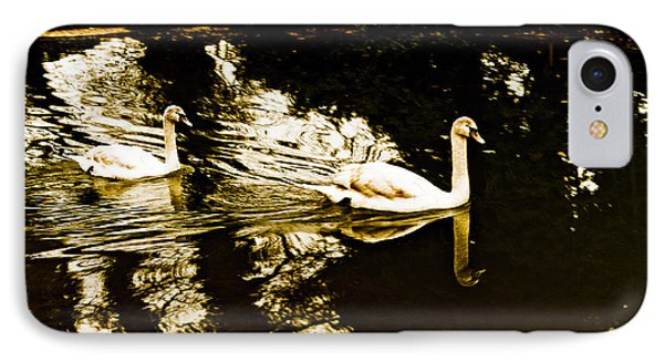 Swans On River Wey IPhone Case by Patrick Kain