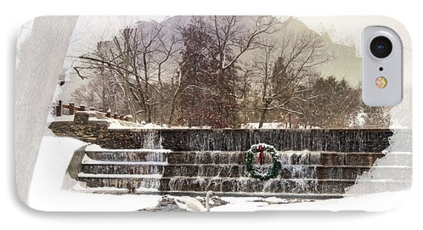 IPhone Case featuring the photograph Swansea Dam At Christmas by Robin-Lee Vieira