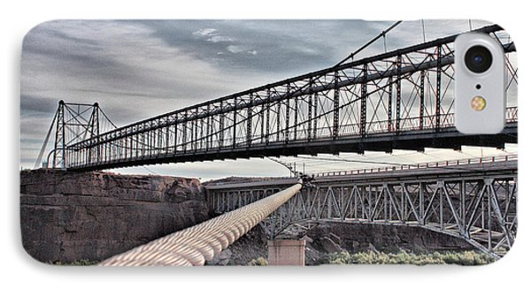 IPhone Case featuring the photograph Swayback Suspension Bridge by Farol Tomson