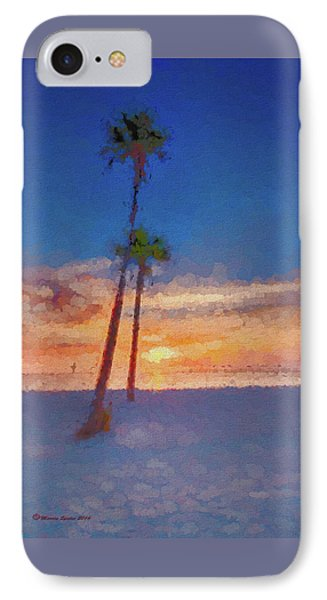 IPhone Case featuring the photograph Swaying Palms by Marvin Spates