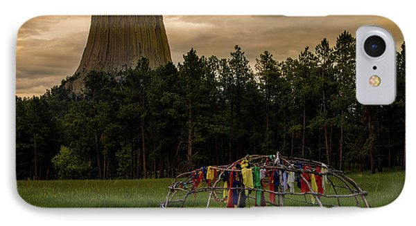 IPhone Case featuring the photograph Sweat Lodge At Devil's Tower by Gary Lengyel