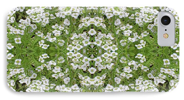 IPhone Case featuring the digital art Sweet Alyssum Abstract by Linda Phelps