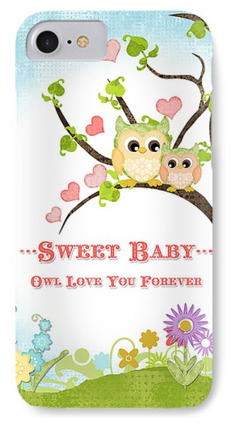 Sweet Baby - Owl Love You Forever Nursery IPhone Case