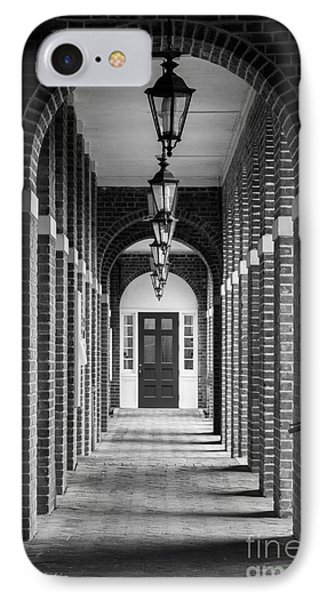 Sweet Briar College Benedict Hall Walkway IPhone Case by University Icons