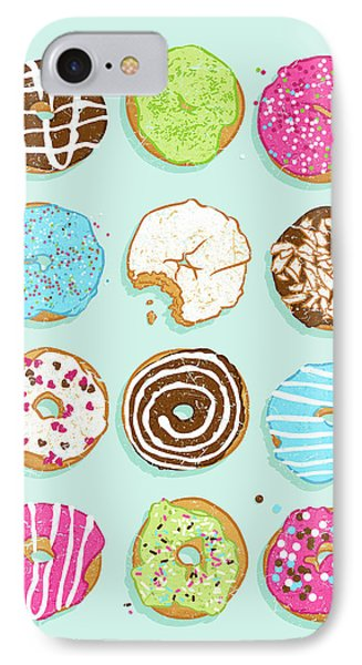 Sweet Donuts IPhone Case by Evgenia Chuvardina