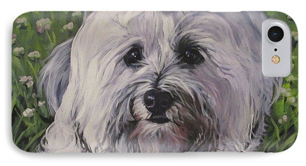 IPhone Case featuring the painting Sweet Havanese Dog by Lee Ann Shepard