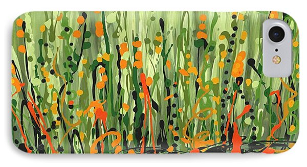 IPhone Case featuring the painting Sweet Jammin' Peas by Holly Carmichael