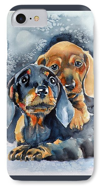 Sweet Little Dogs IPhone Case by Kovacs Anna Brigitta