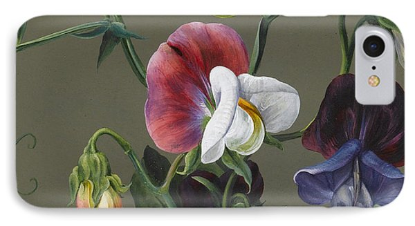 Sweet Peas And Violas IPhone Case by Louise D'Orleans