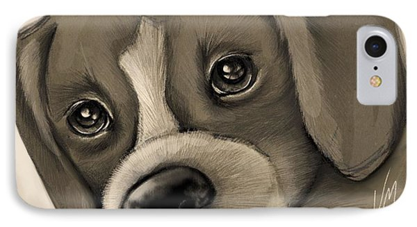 Sweet Puppy IPhone Case by Veronica Minozzi