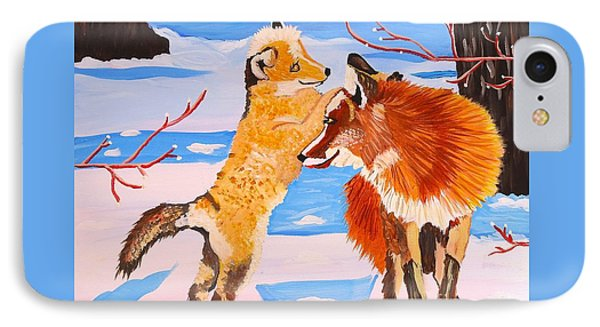 Sweet Vixen And Kit Foxes IPhone Case