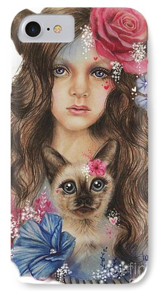 IPhone Case featuring the mixed media Sweetheart by Sheena Pike