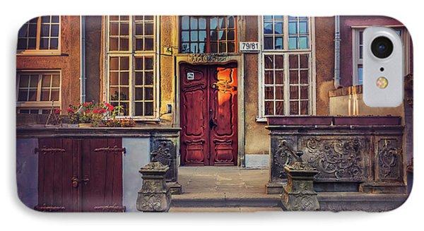 Swietego Ducha Street In Gdansk  IPhone Case