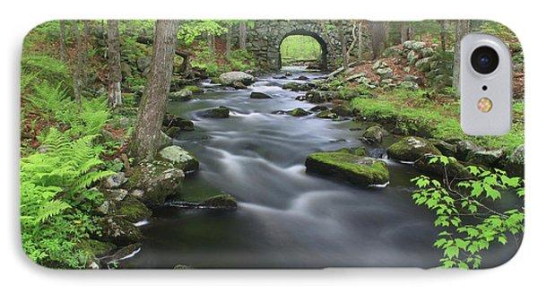 Swift River And Keystone Bridge Quabbin Reservoir IPhone Case by John Burk