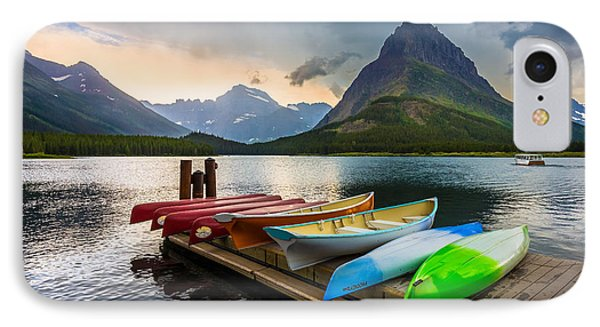 Swiftcurrent Canoes IPhone Case by Inge Johnsson
