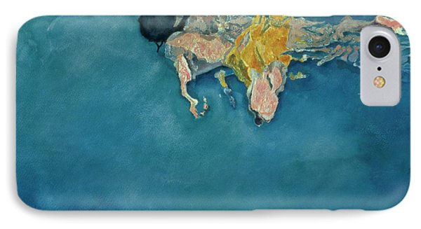 Swimmer In Yellow IPhone Case by Gareth Lloyd Ball