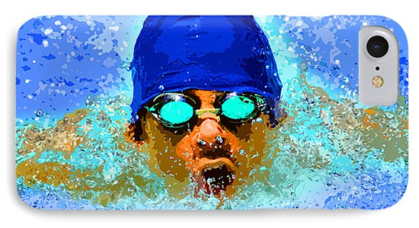 Swimmer Phone Case by Stephen Younts