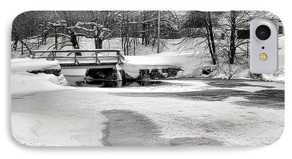 Swimming Hole At Bristol Dam In Winter IPhone Case by Olivier Le Queinec