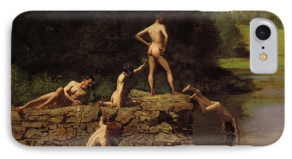 Swimming Hole IPhone Case by Thomas Cowperthwait Eakins