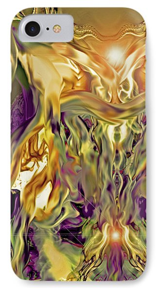 IPhone Case featuring the digital art Swimming Horses by Linda Sannuti