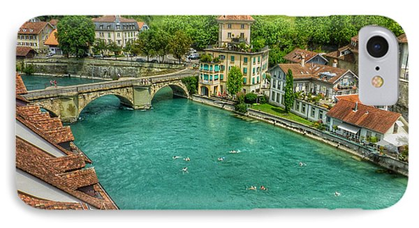IPhone Case featuring the photograph Swimming The River Aare , Bern  by Connie Handscomb