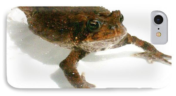IPhone Case featuring the digital art Swimming Toad by Barbara S Nickerson
