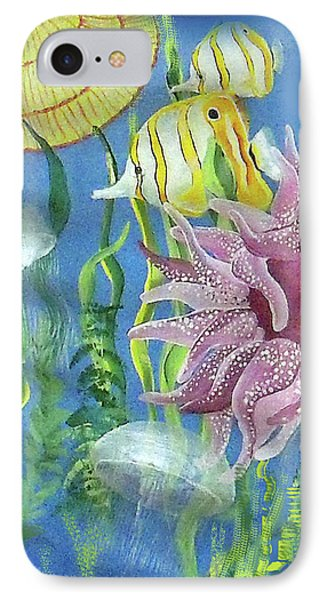 Swimming With The Jellies IPhone Case by Janis Grau
