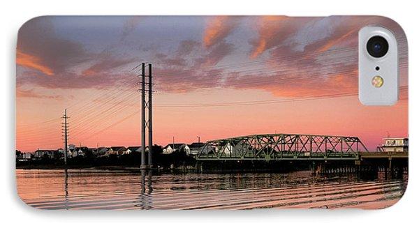 Swing Bridge At Sunset, Topsail Island, North Carolina IPhone Case by John Pagliuca