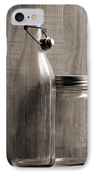Jar And Bottle  IPhone Case by Sandra Church