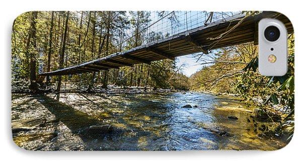 Swinging Bridge Back Fork Of Elk IPhone Case by Thomas R Fletcher