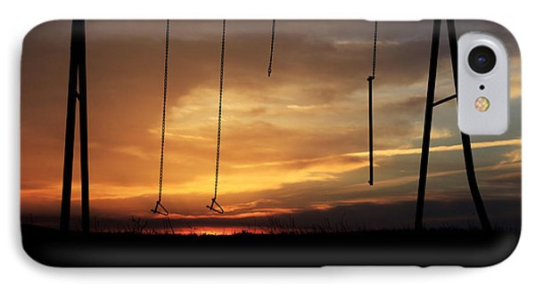 Swingset Sunset IPhone Case by Christopher McKenzie