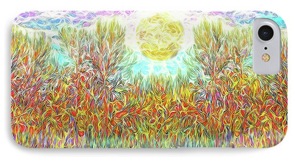 IPhone Case featuring the digital art Swirling Brilliant Trees - Boulder County Colorado by Joel Bruce Wallach