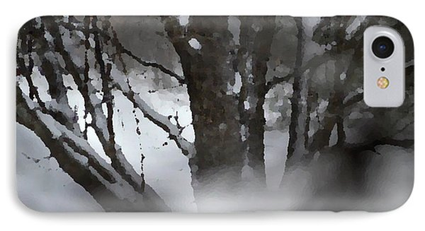 Swirling Into Winter IPhone Case