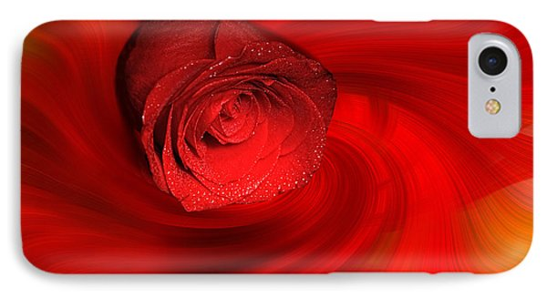 Swirling Rose IPhone Case by Geraldine DeBoer