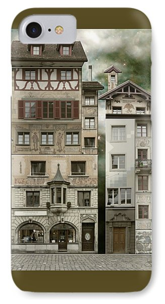 Swiss Reconstruction IPhone Case by Joan Ladendorf