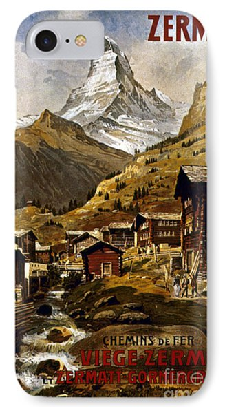 Swiss Travel Poster, 1898 Phone Case by Granger