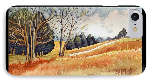 IPhone Case featuring the painting Switchboard Rd by Katherine Miller