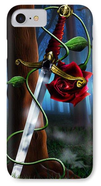Sword And Rose IPhone Case by Alessandro Della Pietra