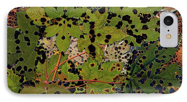 Sycamore Leaves IPhone Case by Philippe Robert